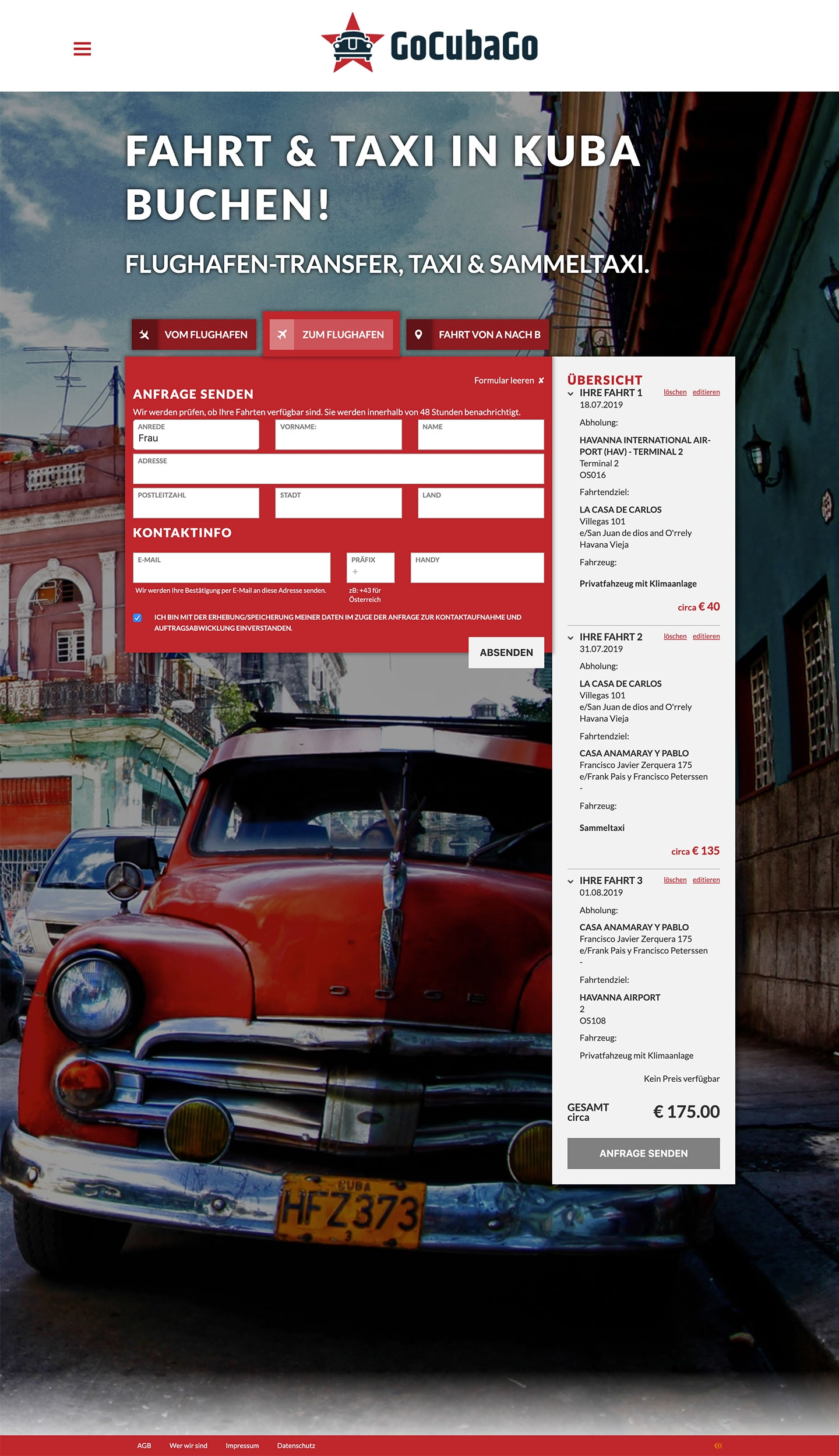 Go Cuba Go | gocubago.com | 2018 (Screen Full) © echonet communication GmbH