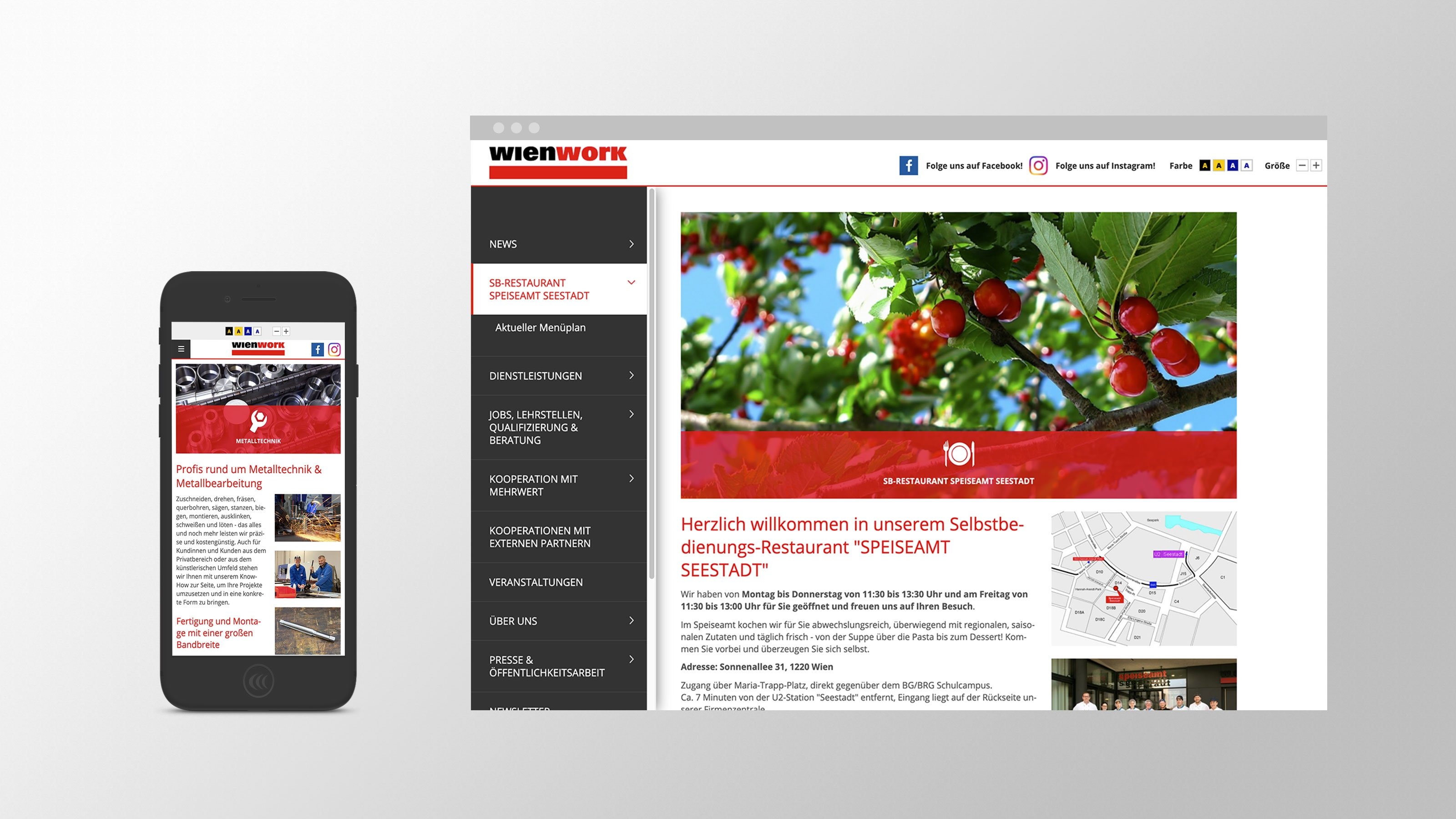 Wien Work | wienwork.at | 2016 (Responsive Phone Desktop) © echonet communication