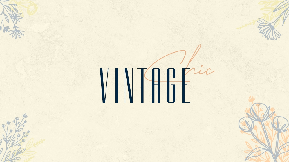 Design-Trends 2020: Sujet 03 / Vintage Chic © echonet communication